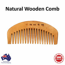 Natural Wooden Wood Comb No-Static Healthy Wide Teeth Hair Handy Travel Small