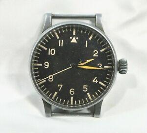 WWII Rare Original WEMPE Luftwaffe B-Uhr Observation Military Wrist Watch #277