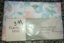 Garnet Hill English Flannel Bedding 2 Standard Pillowcases Pastel Floral NEW