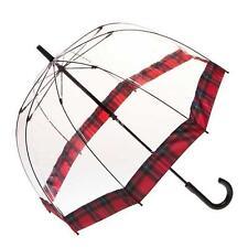 Clear Umbrella with Stewart Tartan Trim brand new