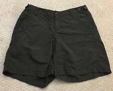 Eddie Bauer Sport Outdoor Nylon Athletic Shorts Dark Gray Size 4 Women's