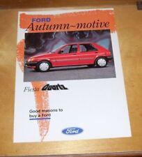 FORD FIESTA QUARTZ SALES LEAFLET Autumn-motive. September 1991 FA1045