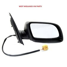 NEW VW POLO MK5 9N 2002-2005 BLACK ELECTRIC DOOR WING MIRROR DRIVERS SIDE  O/S