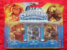Eruptor Chop Chop Bash Skylanders Triple Pack C, 3 Skylander Figuren, OVP-Neu