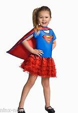 Supergirl children's costume with Tutu skirt Girls Fancy Dress Costume Genuine