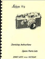 Leica IIIg Service & Repair Manual, also applies to Leica Ig