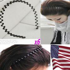 6 pcs x (With Free gift) Men Women Unisex Metal Sport Soccer Headband Hairband