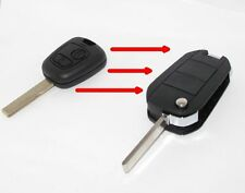 Convertir Peugeot Citroen 2 botón Llavero caso 407 107 206 207 307 C2 C3 C4 #85