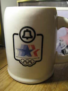 Bell Telephone 1984 Los Angeles Olympics Olympic Games Papel Coffee Beer Mug Cup