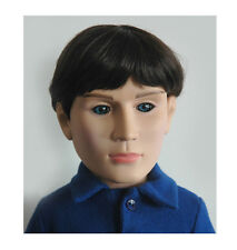 """Carter 18"""" Boy Doll Dressed in Jeans, Shirt, Shoes in Carpatina Blue Gift Box"""