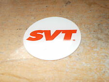 "SVT FORD MUSTANG COBRA FOCUS LIGHTNING STEERING WHEEL CENTER CAP DECAL 2 1/4"" W"