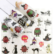 Nail Art Stickers Water Decal Transfers Halloween Frankenstein Spider (YZW-3174)
