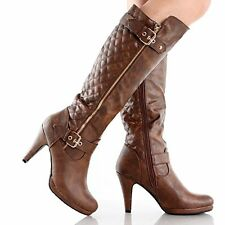 New in Box Gorgeous! West Blvd Boston Quilted Riding Boots Tan Size 6.5 (B,M)