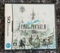 FINAL FANTASY III (3) - JEU NINTENDO DS version JAP -  Complet TBE