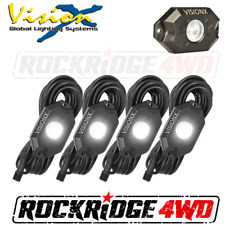 VISION X 9 WATT LED ROCK LIGHT 4 POD KIT / WHITE - HIL-RL4W JEEP TRUCK UTV