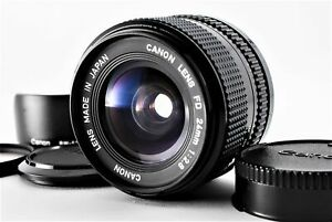 [Near MINT w/ HOOD] Canon New FD NFD 24mm f2.8 MF Wide Angle Lens from JAPAN