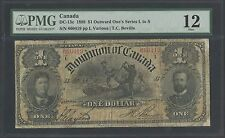 CANADA DC-13c 1898 $1 OUTWARD ONE'S SERIES L  TO S PMG FINE 12 BT364
