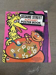 VTG 1971 Sesame Street Alphabet Poster Book - Jim Henson's Muppets Children's TV