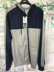 D-PROJECT GREY NAVY  ZIP HOODED TRACKSUIT SIZE XL