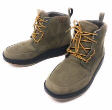 MBT Men's Gore-Tex Rocker Hiking Boots Beige Brown Tan  Suede Lace-up Size 8.5