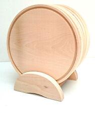 madera pizza Plato Juego 6 piezas en Soporte,MacIzo Haya Tabla de cortar 24.1cm