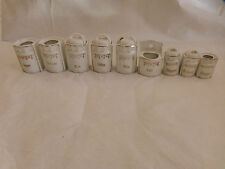 Antique Luster Spice Canisters w Lid -Pepper Storage Jar WWII ERA 1940's Germany