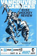 1961 (Nov.3) WHL Hockey Review Program, Seattle Totems @ Vancouver Canucks ~ Gd