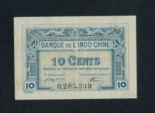 FRENCH INDO-CHINA  10 CENTS  L. 1919 ( 1920-23 )  PICK # 43  XF+.
