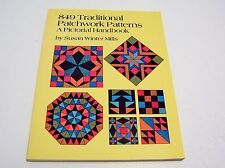 849 Traditional Patchwork Patterns A Pictorial Handbook Susan Mills PB 1989