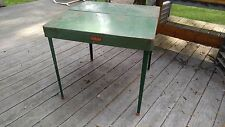 Vintage COLEMAN Folding Camp Table Fold Away Metal Outdoor Game Picnic Table