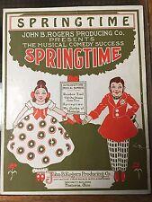 Springtime by Maurice Baker John B. Rogers Musical Comedy Sheet Music