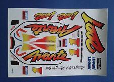 AVANTE 2001 CUSTOM TAMIYA HPI LOSI VINTAGE PRECUT DECALS STICKERS 1/10th RC CARS