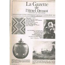 La GAZETTE de l'Hôtel DROUOT 1981 N°39 Lampes Art déco Monnaie De VLAMINCK ARMES