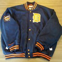 Mitchell & Ness Mens 3XL Detroit Tigers Briggs Stadium Navy Wool Varsity Jacket