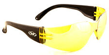 Global Vision Shatterproof Uv400 Yellow Tinted Shooting Glasses and Pouch