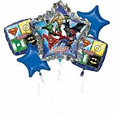 Justice League Birthday 5 piece Foil Balloon Bouquet - 32386
