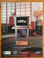Virtua Fighter 4 Playstation 2 PS2 2002 Vintage Print Ad/Poster Official SEGA