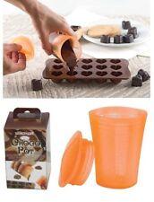 SILIKOMART Bicchiere in silicone graduato con Tappo per scogliere il cioccolato