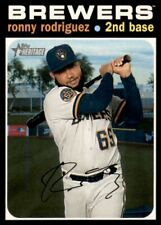 2020 Topps Heritage High Number Ronny Rodriguez Milwaukee Brewers #600