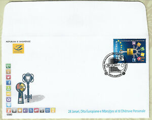 Albania Stamps FDC Year 2017 The European Day of Personal Data Protection