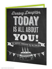 OFERTA Daughter Cumpleaños Tarjeta de felicitación Divertido Humor Novedad
