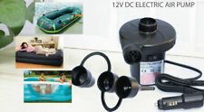 240V Electric Air Pump Inflatable Pool Airbed With UK Car Plug 3 Valve Adaptors