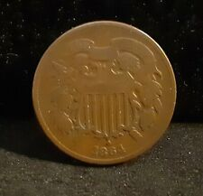 1864 Two Cent Piece - Fine - RPD FS1302 (001.7)    ENN COINS
