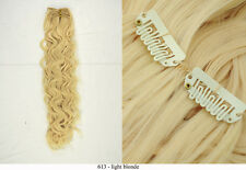 """Recurlable Synthetic Hair CLIP ON IN Extensions 7 pc - Soft Body Wave 22"""""""