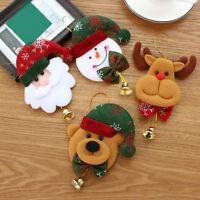 Fj- Eg _ Albero di Natale Babbo Pupazzo Alce Orso Ornamento da Parete Campane