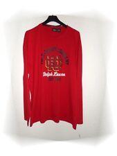 Una Alta Camiseta Rojo De Manga Larga Ralph Lauren Polo Vaqueros Company