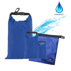 3er Set Dry Bag Wasserdichte Taschen 1, 2, 8 Liter Seesack, Fahrrad, Outdoor