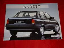 Opel Kadett E para trasera escalonada ls GL GLS folleto de 1985