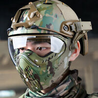 Head-mounted /Helmet Type Tactical Full Face Mask Lens Airsoft Paintball Hunting