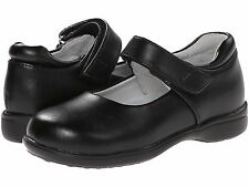 School Shoes  Black LEATHER MaryJanes  Jumping Jacks  Girls Size  1 1/2  Wide